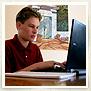 Kid at computer screen