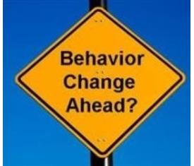 behavior change ahead sign
