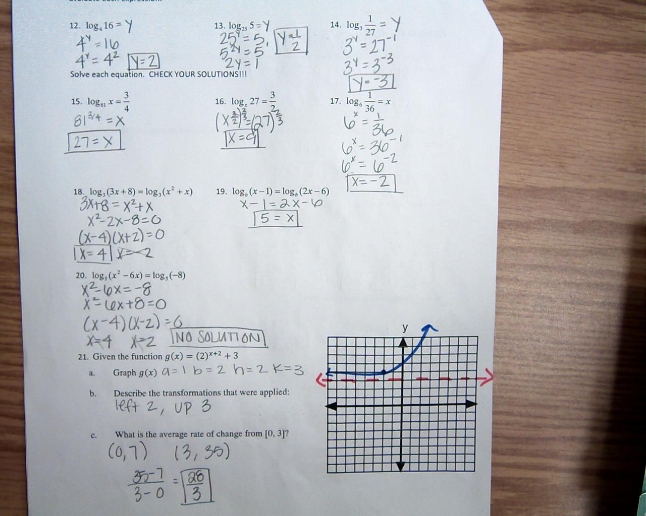 Algebra 2 Worksheet Answers 6 2 - mrscabral algebra 2 ...