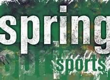 Grass image with text saying spring sports