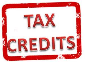 Tax Credit sign
