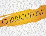 Curriculum word on a background of words