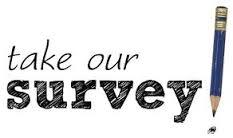 Take our survey next to a pencil drawing.