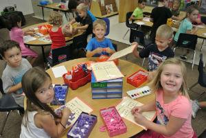 Kinder in class